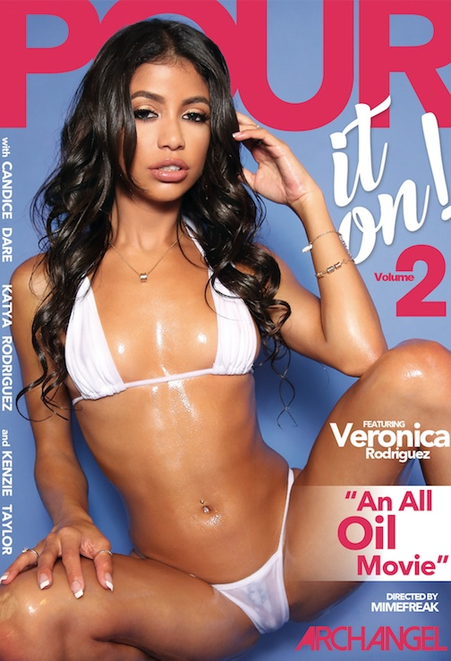 Pour It On! Volume 2 DVD cover, starring Veronica Rodriguez
