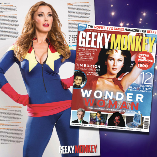 Tanya Tate was recently featured in the centre pages of mainstream magazine Geeky Monkey