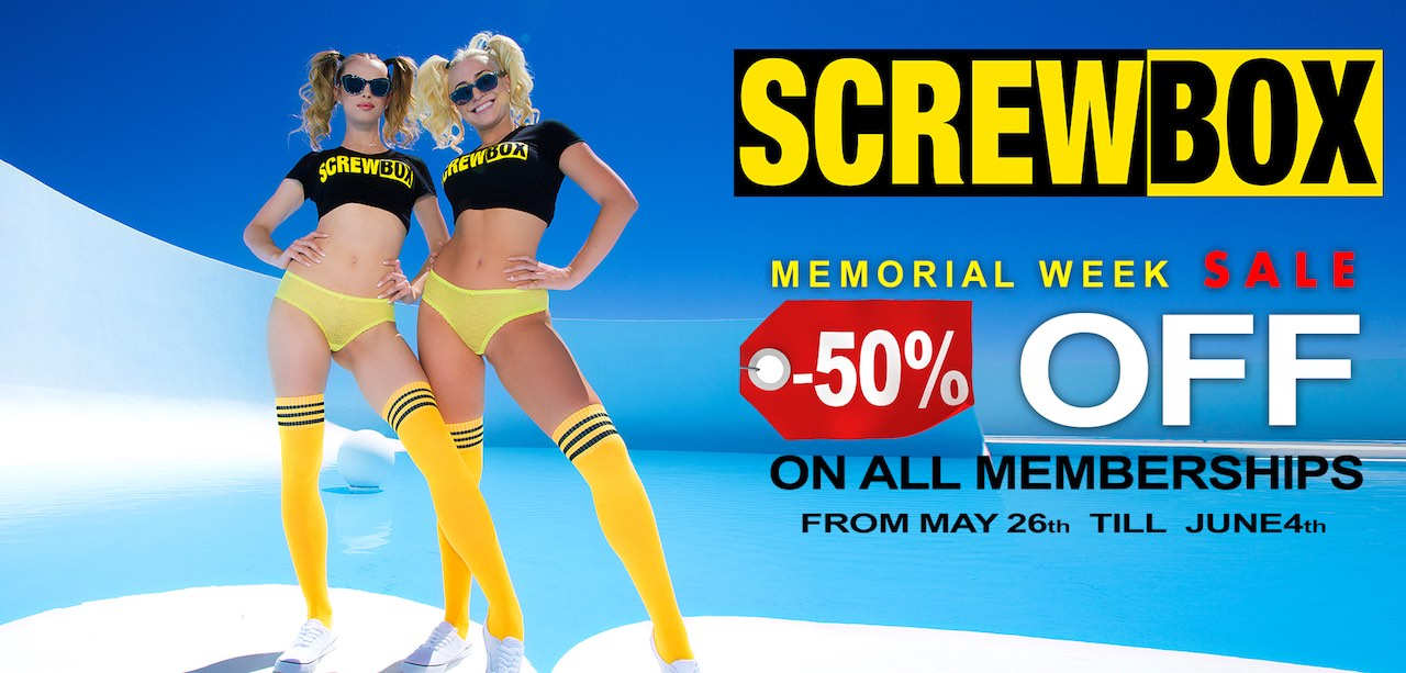 Screwbox.com Memorial Week 50% off sale